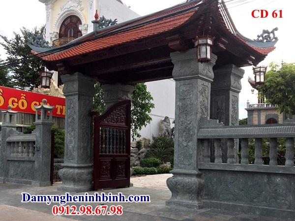 Cổng nhà biệt thự đá 61