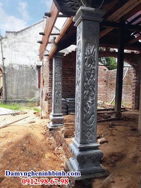 Cột đá nhà thờ đình làng đẹp 40