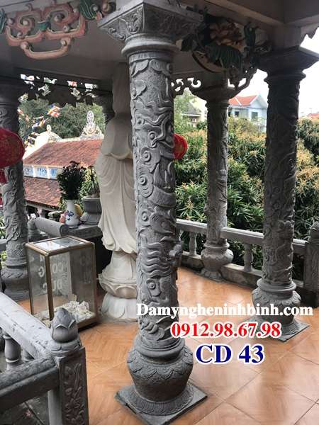 Cột đồng trụ đá tròn Đình chùa CD 43