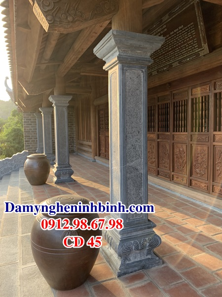 Cột đồng trụ đá vuông nhà thờ họ CD 45