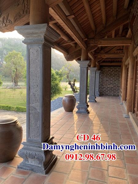 Cột đồng trụ đá vuông nhà thờ họ CD 46