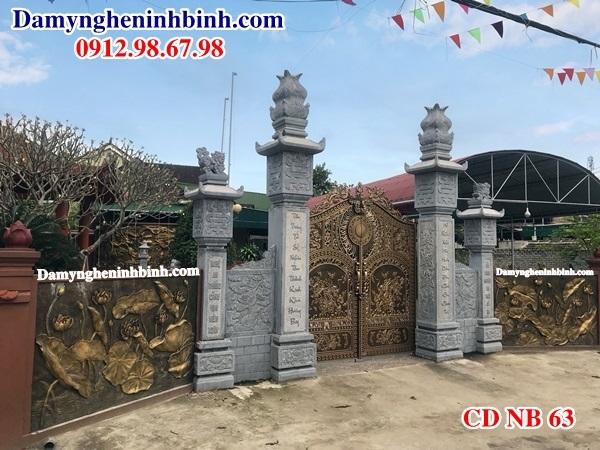 Cột cổng đá nhà thờ họ CDNB 63