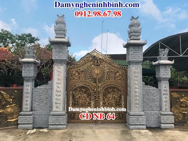 Cột cổng đá nhà thờ họ CDNB 64