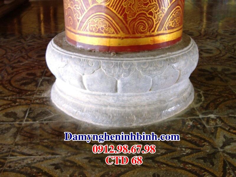 Chân tảng đá kê cột trụ nhà gỗ CTD 68