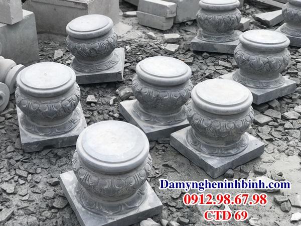 Chân tảng đá kê cột trụ nhà gỗ CTD 69