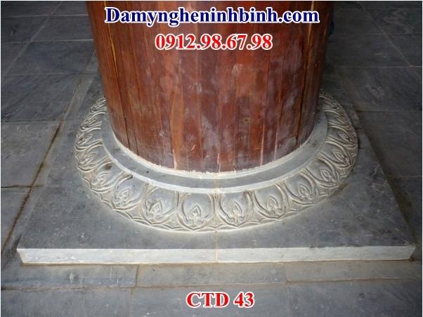 Chân tảng đá chân kê cột nhà gỗ bằng đá 43