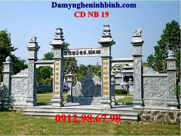 Cổng đá khu lăng mộ 19
