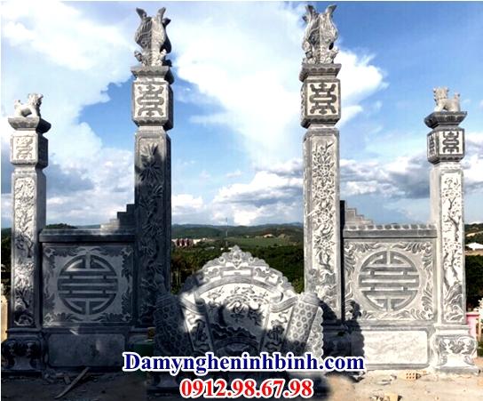 Cổng đá tứ trụ khu lăng mộ 57