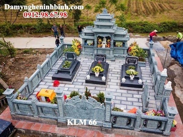 Khu lăng mộ gia đình đá xanh rêu 66