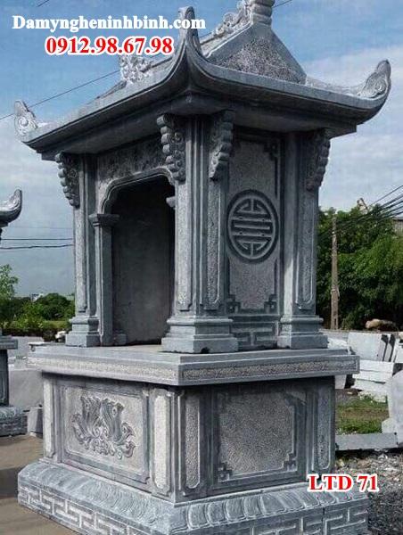 Mẫu lăng am củng thờ cây hương đá đẹp 71