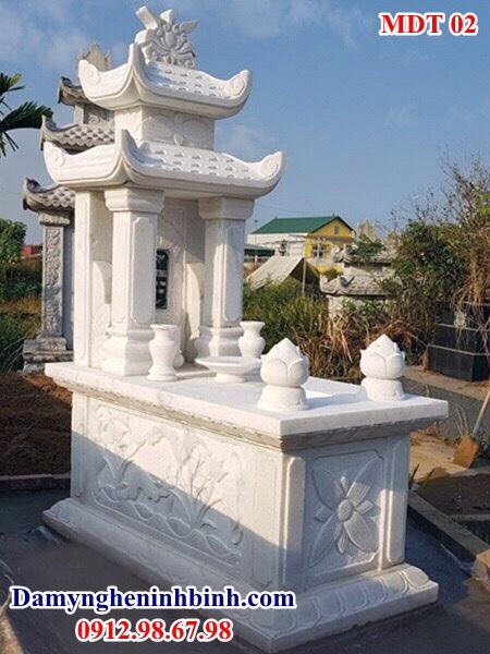 Lăng mộ đá trắng granite nguyên khối 02
