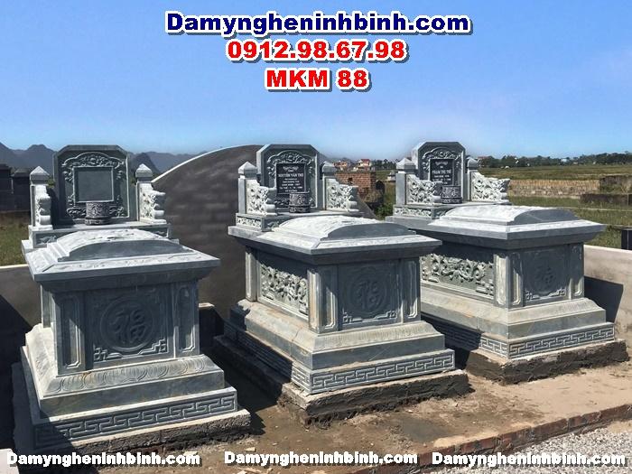 Lăng mộ đá xanh rêu hậu bành nguyên khối tự nhiên đẹp ninh bình thanh hóa mkm 88