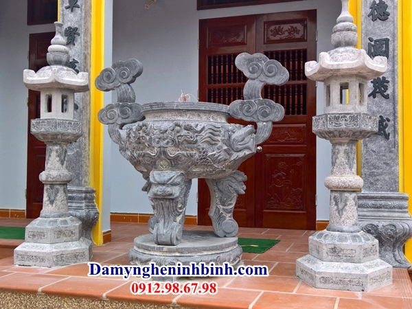 Lư hương đá đền chùa NB 39