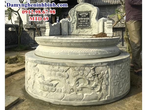 Mẫu lăng mộ đá hình tròn đẹp 69