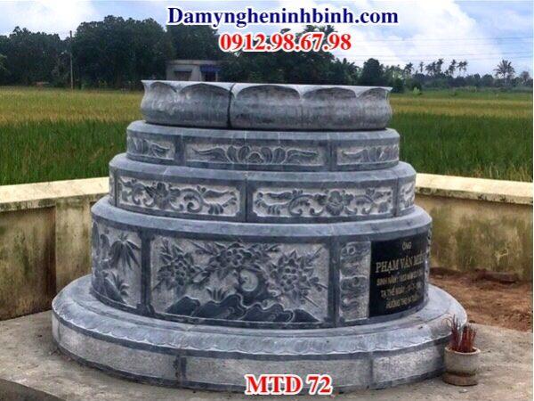 Mẫu lăng mộ tròn đá MTD 72