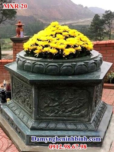Mẫu mộ đá xanh rêu Nghệ An