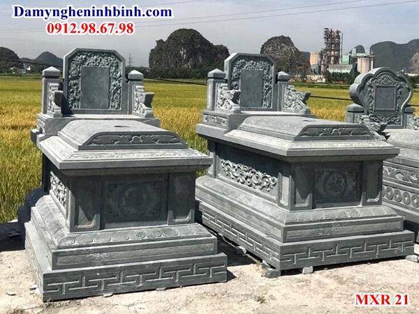 Mẫu mộ đá xanh rêu Thanh Hóa đẹp 21
