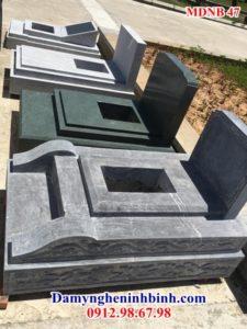 Mẫu mộ đôi đá granite ninh bình dep 47