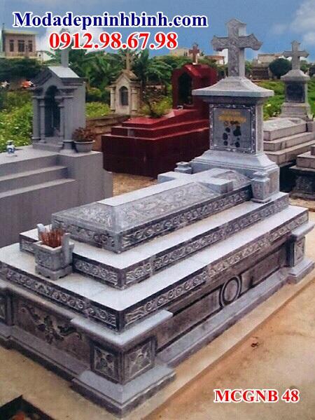 Mẫu mộ công giáo đá đẹp 48