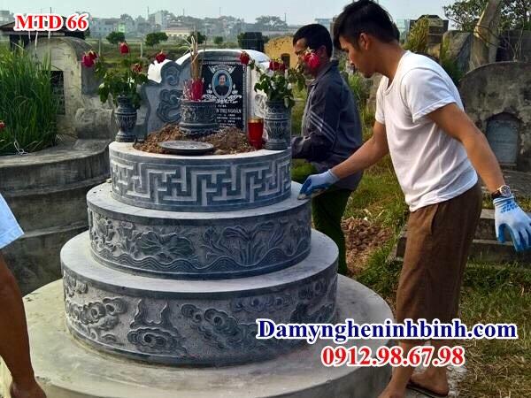 Mẫu mộ tròn đá 66