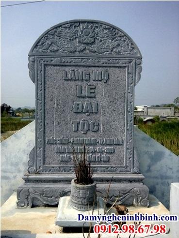 Mẫu bia đá lăng mộ