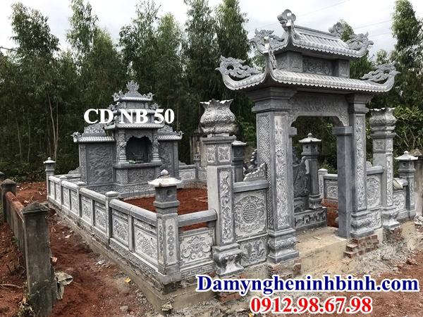 Mẫu cổng đá khu lăng mộ 50