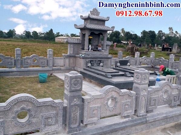Mẫu lan can đá khu lăng mộ