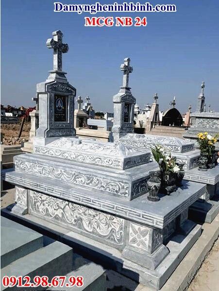 Mẫu mộ đá công giáo đẹp 24