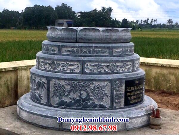 Mẫu mộ đá xanh tròn 58