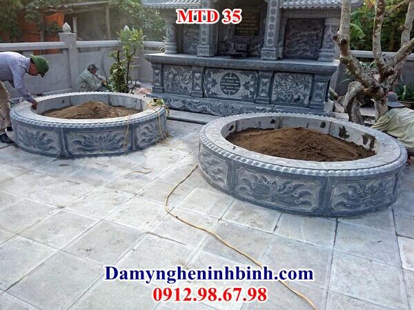 Mộ tròn đá đẹp NB 35