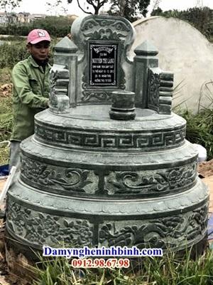 Mộ tròn đá xanh rêu Thanh Hóa