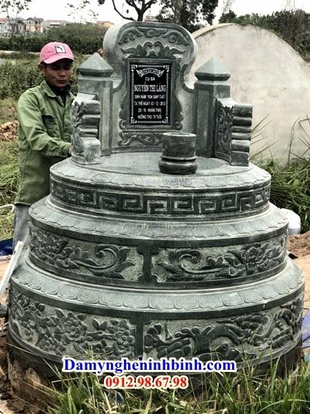 Mộ tròn đá xanh rêu Thanh Hóa NB 06