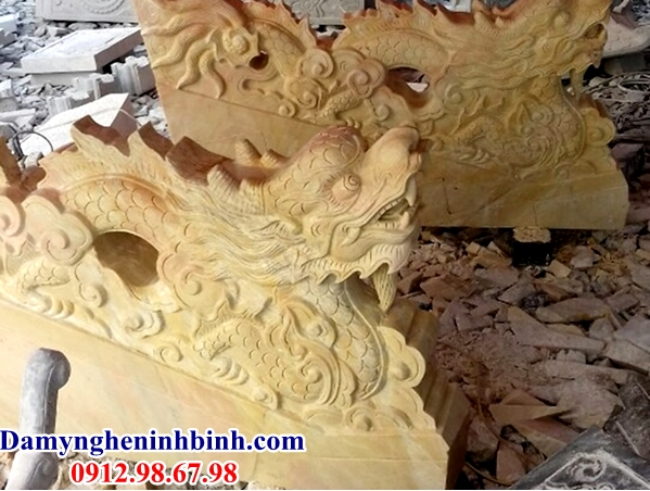 Rồng bậc thềm đá vàng 09