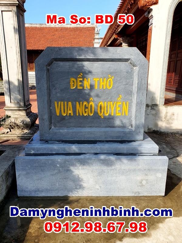 Bia đá đền thờ vua Ngô Quyền