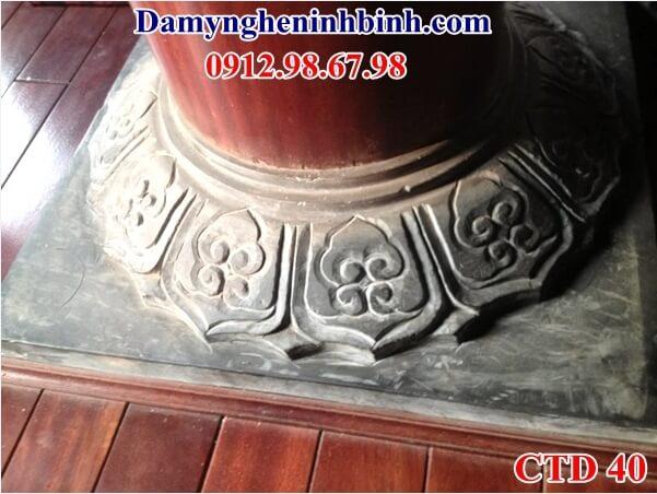 chân cột đá nhà thờ