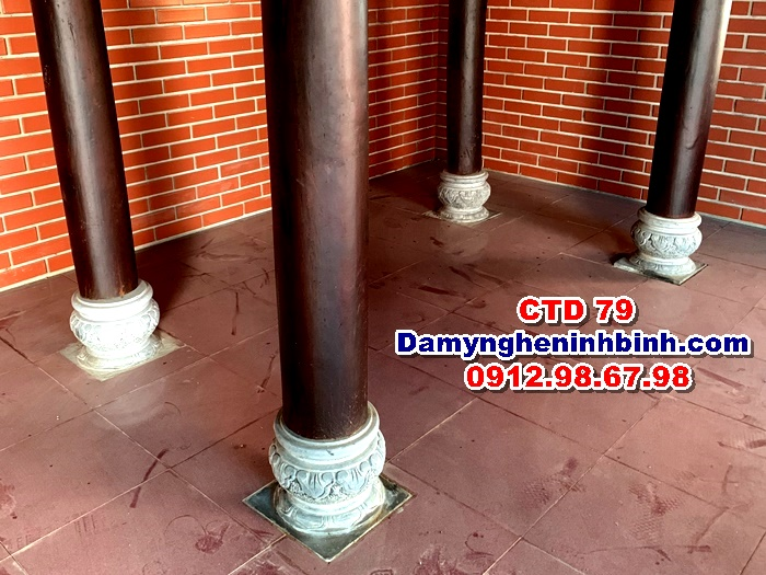 Chân tảng đá kê cột nhà gỗ CTD 79