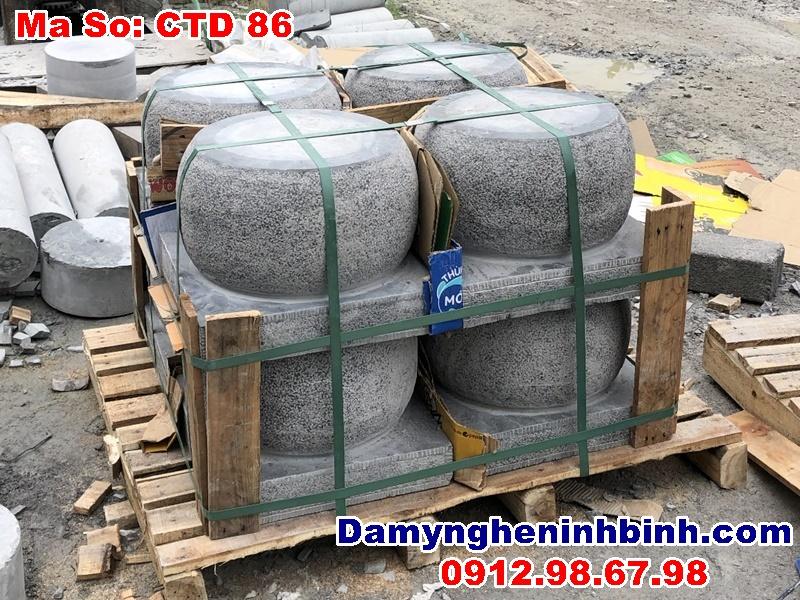 chân tảng đá tròn băm nhám đơn giản cho resort Ninh Vân Bay Nha Trang