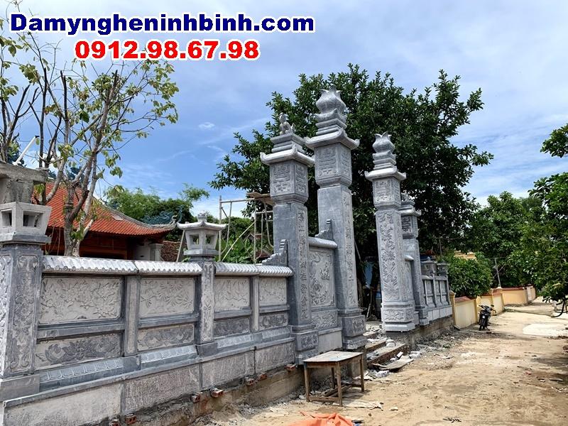 cổng lan can đá nhà thờ tổ dòng họ yên thành nghệ an