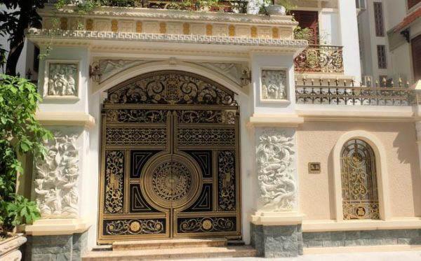 cổng nhà ốp đá đẹp