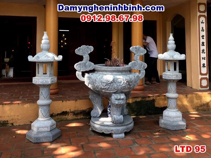 đèn lư hương đá chùa vơ hoa lư ninh bình