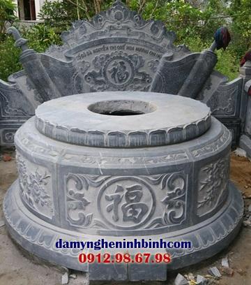 hoa văn mộ tròn đá