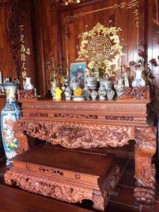 Kích thước bàn thờ tổ tiên chuẩn phong thủy