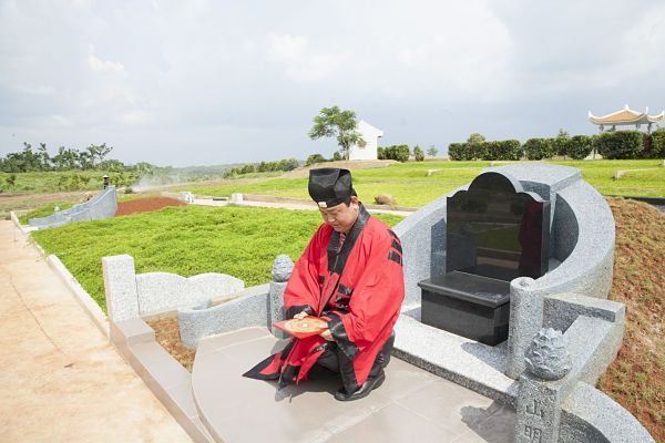 khu vực đặt mộ