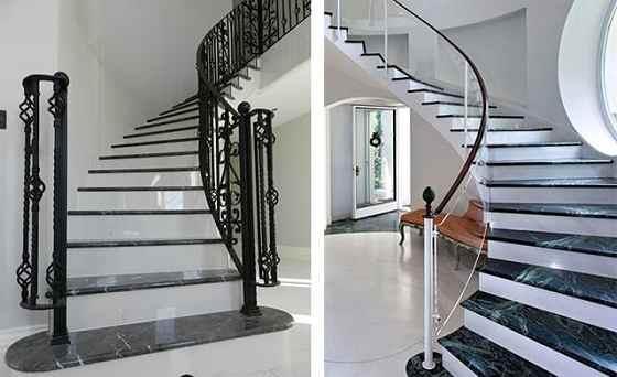kích thước cầu thang phòng khách theo phong thủy
