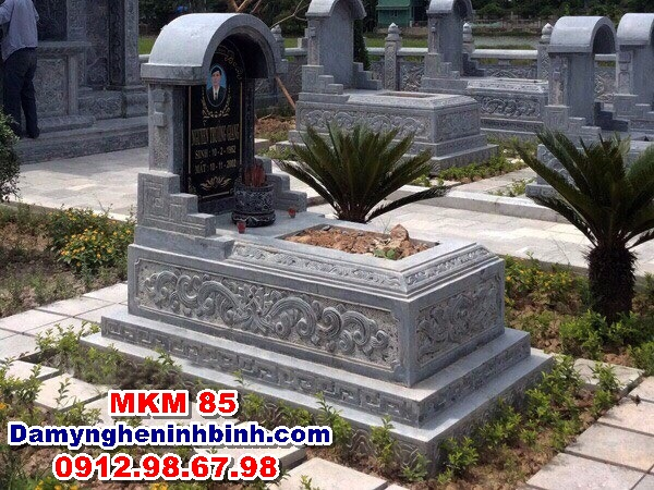 lăng mộ đá đẹp ninh bình nguyên khối mkm 85