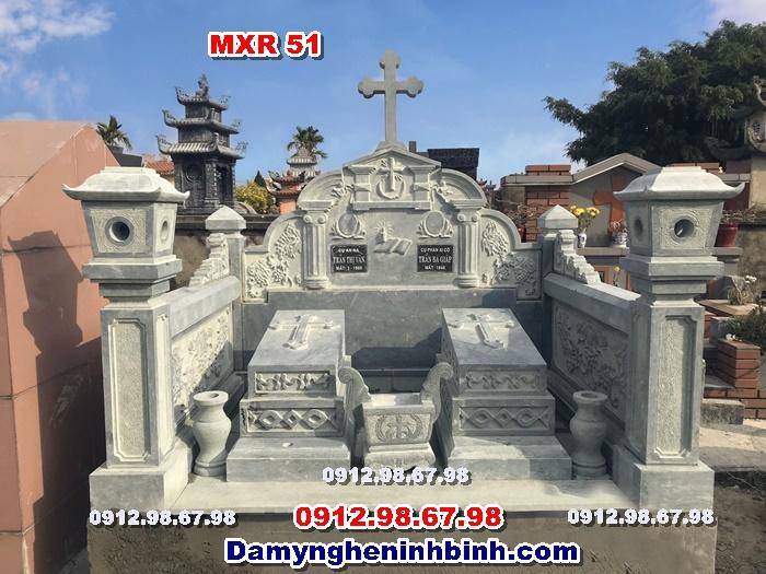lăng mộ đá xanh rêu công giáo ninh bình thanh hóa mxr 51