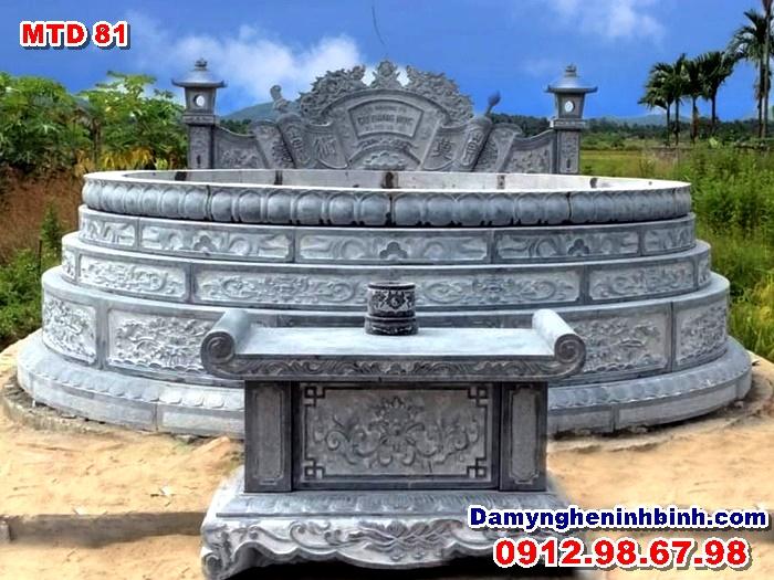 lăng mộ tổ tròn đá dòng họ mtd 81