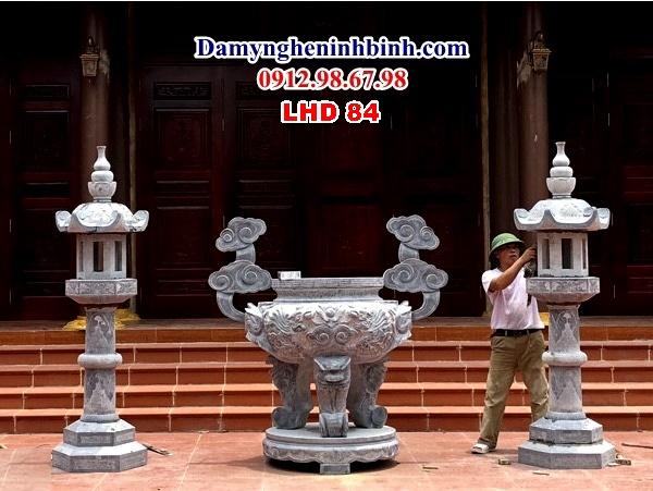 lư đỉnh hương đá đền đình chùa lhd 84