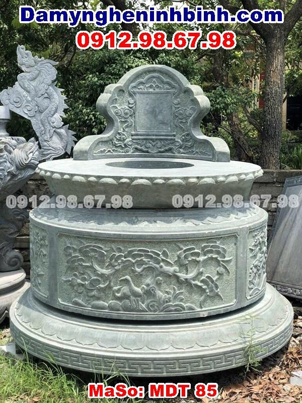 lăng mộ đá xanh rêu hình tròn đẹp