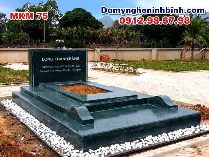 Lăng mộ đá xanh rêu MKM 75